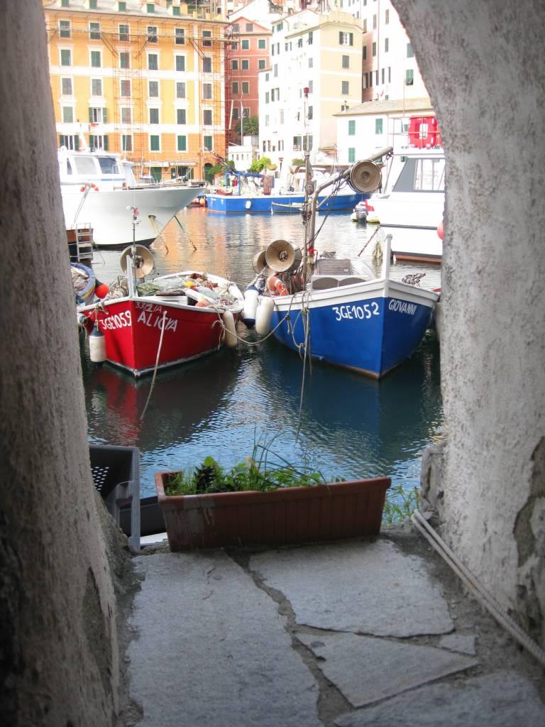 Camogli boats Italian Riviera
