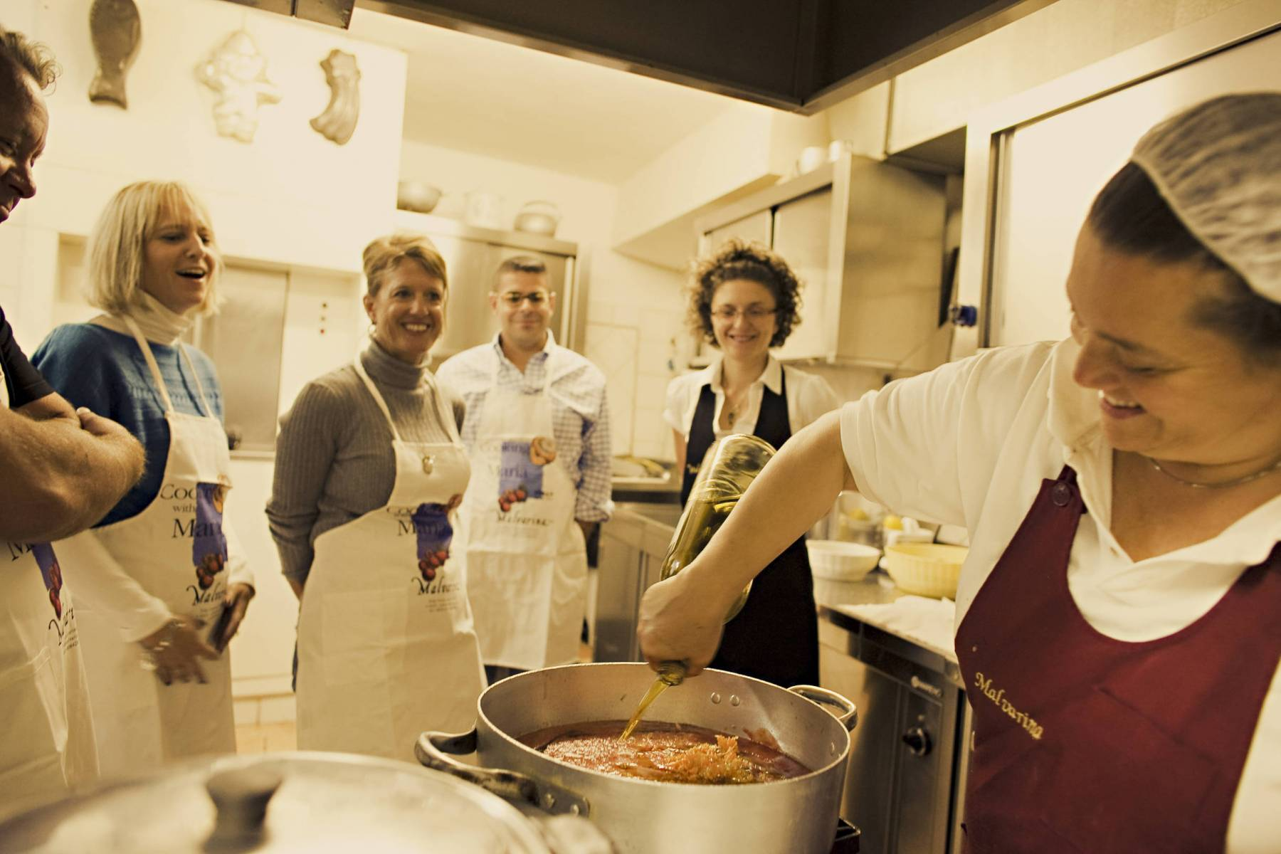 cooking class on a small group tour