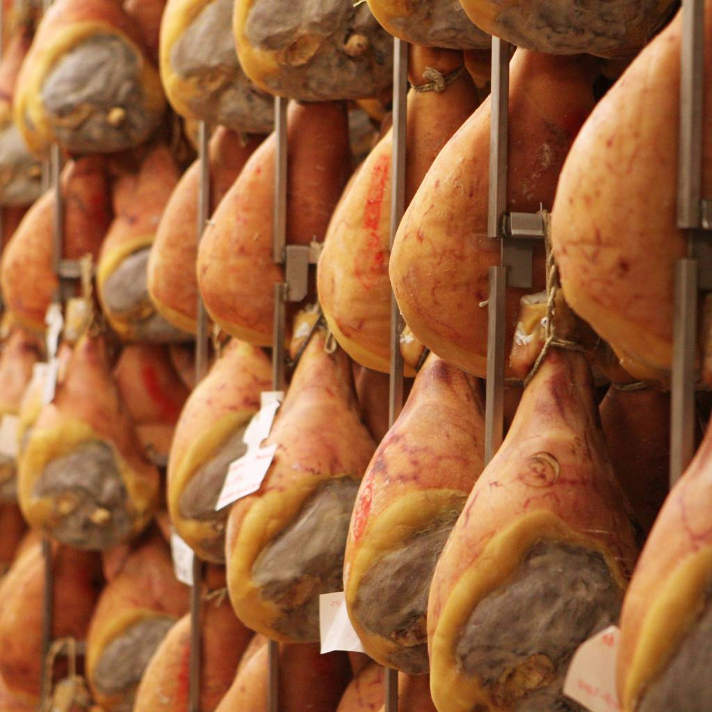Parma ham is another delicious food from Emilia Romagna