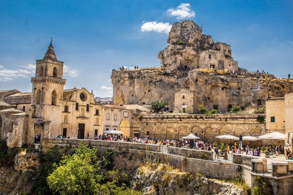 A view of San Pietro Caveoso Church in beautiful Matera