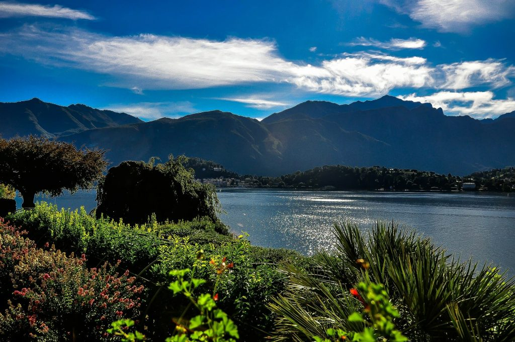 A beautiful view over Lake Como in Italy, one of the most romantic places in Italy