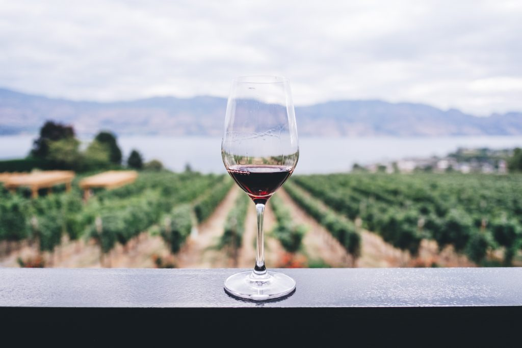 Wine with Landscape