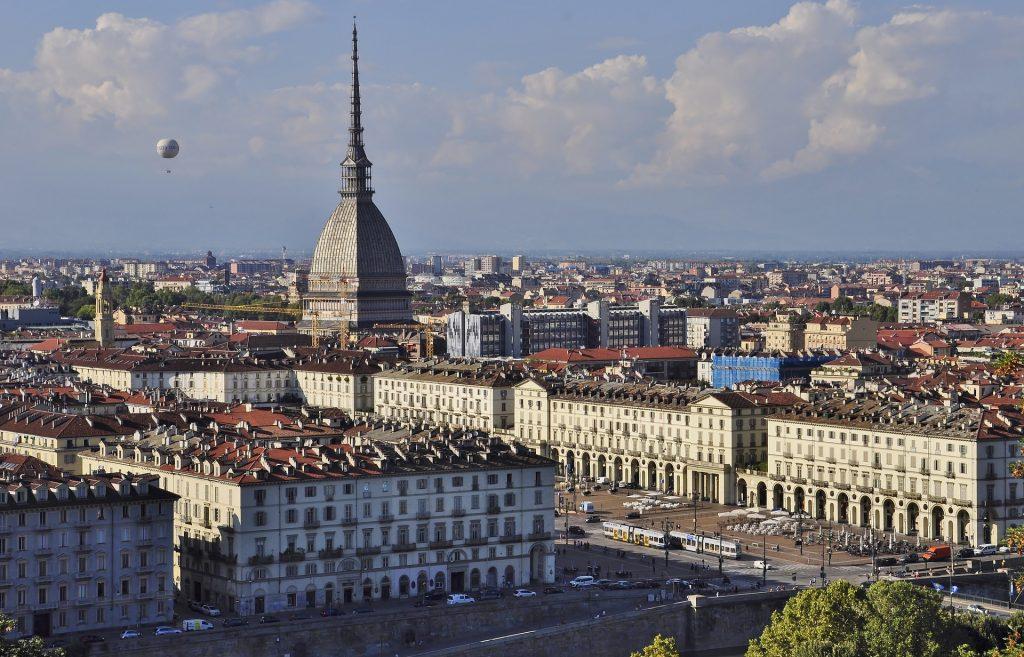 skyline of beautiful Torino in Piedmont, Italy